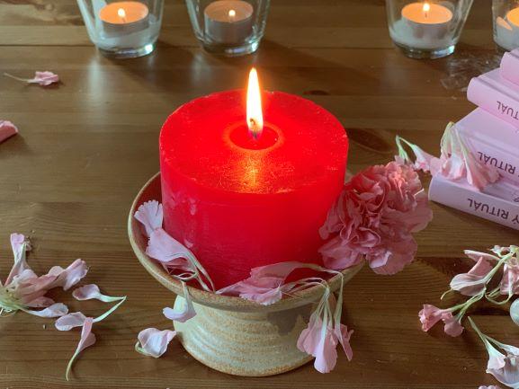 Rituální Svíčka Pro Placentový Rituál