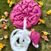 Symbolická plstěná placenta pro Placentový rituál